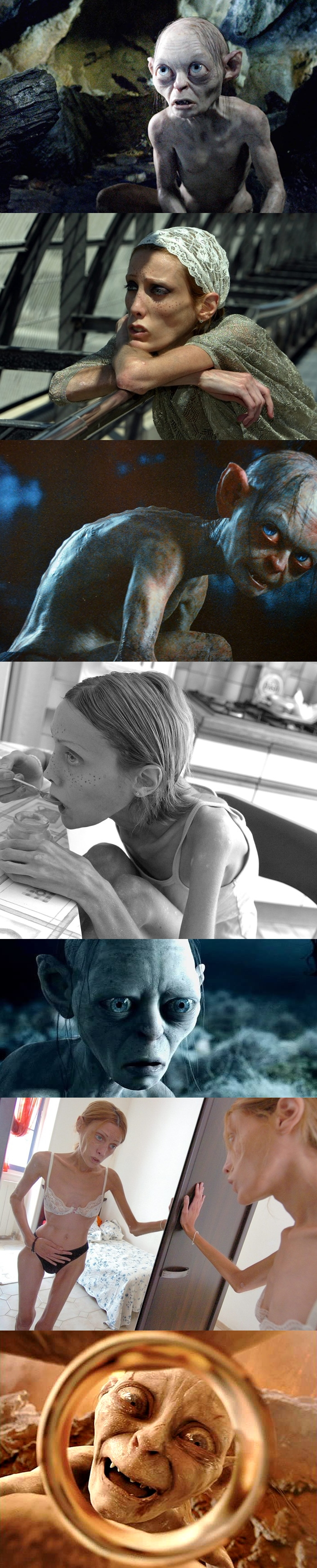 isabelle caro gollum lotr anorexia