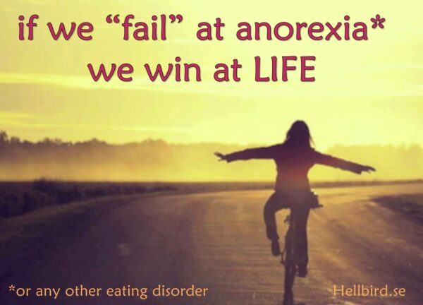 fail anorexia win life